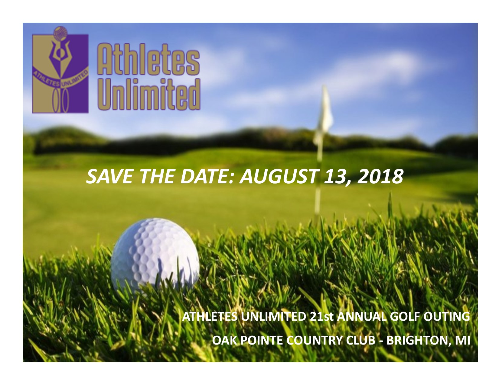 Save the Date August 2018